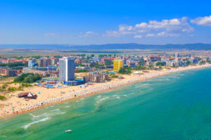 sunny beach in Bulgaria